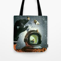 portal Tote Bags featuring Portal by Peter Campbell