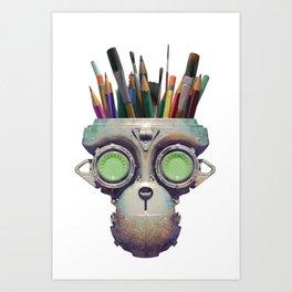 Robot With a Purpose No. 3 Art Print