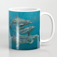 dolphins Mugs featuring Dolphins by Beckyliv