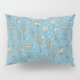 phantasie-fowers on blue Pillow Sham
