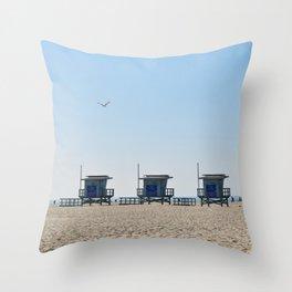 Venice Beach Views Throw Pillow