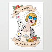 Fall in love with yourself Art Print