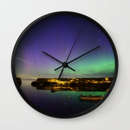 Shooting Star Aurora at Lanes Cove Wall Clock