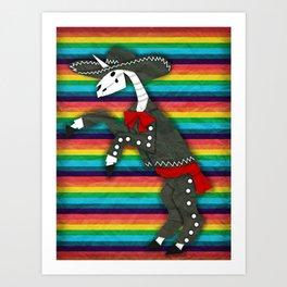 Charro Unicorn Art Print