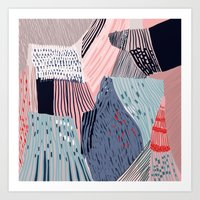 knit Art Prints featuring knit painting by frameless