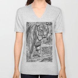 Malayan Tiger (Harimau) Unisex V-Neck