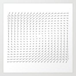 Vector Field basic - Gray Art Print