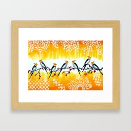 Cockatiels Framed Art Print