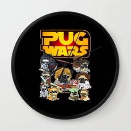 PUG WAR Wall Clock