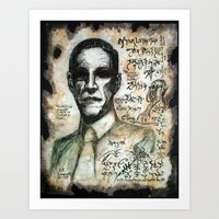 H. P. Lovecraft Art Print