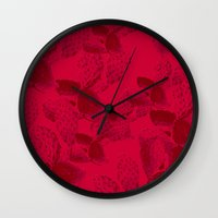 dna Wall Clocks featuring DNA by Hipsterdirtbag