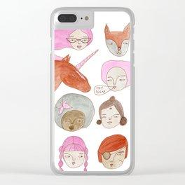 Hey Sugar! Clear iPhone Case