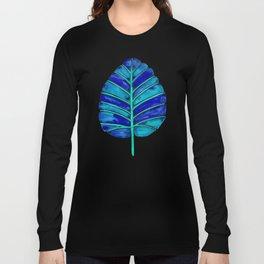 Elephant Ear Alocasia – Blue & Turquoise Palette Long Sleeve T-shirt