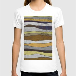 Nordic Layers - Abstract, Textured Art T-shirt