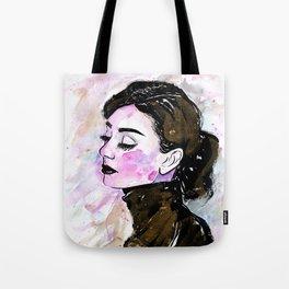 Loose Watercolor & Ink Audrey Tote Bag