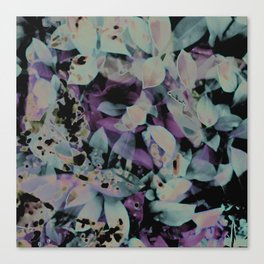 The Blue and Purple Leaves Canvas Print