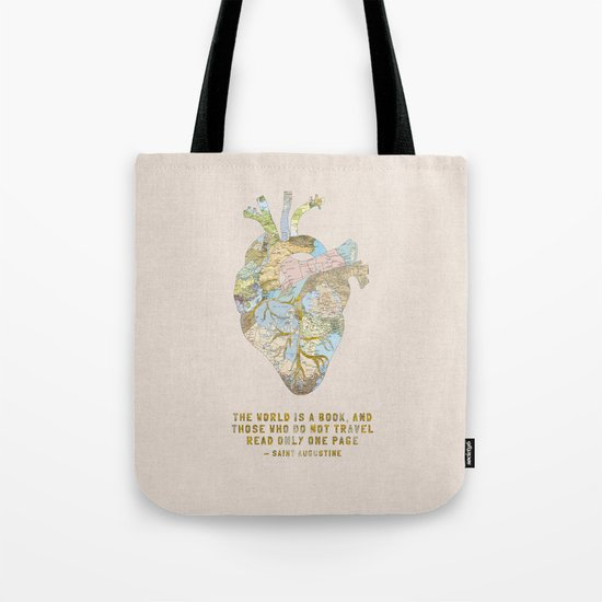 A Traveler's Heart + Quote Tote Bag