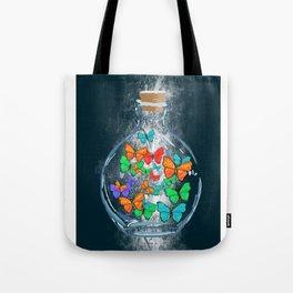 Bottled Butterflies Tote Bag