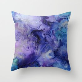 Colorful Watercolor 3D Painting Throw Pillow