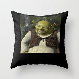 Shrek Smith Meme Throw Pillow