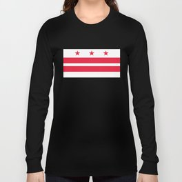 Washington D.C official Flag Long Sleeve T-shirt
