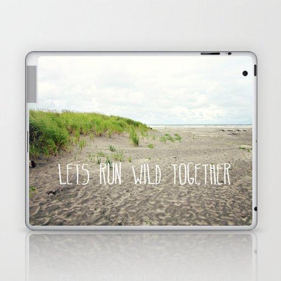 lets run wild together Laptop & iPad Skin