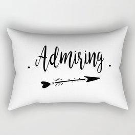 Admiring Lettering-PM coll Rectangular Pillow
