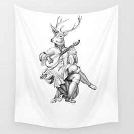 Minstrel Stag Wall Tapestry
