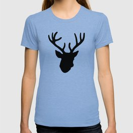 Deer Head: Black T-shirt