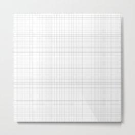 Grid Grunge Metal Print