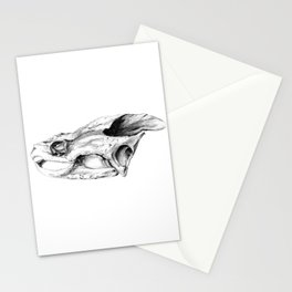 Snapping Turtle Skull Stationery Cards