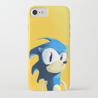 sonic iPhone & iPod Cases featuring Sonic by tonguestubble