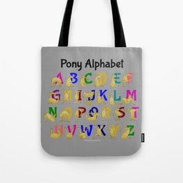 Pony Alphabet Chart, Colourful Tote Bag