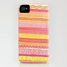 Tribal#1 (Orange/Pink/Yellow) Slim Case iPhone (4, 4s)