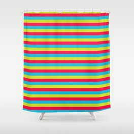 funny stripes colorful pattern Shower Curtain