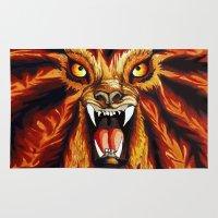 werewolf Area & Throw Rugs featuring Werewolf by BluedarkArt