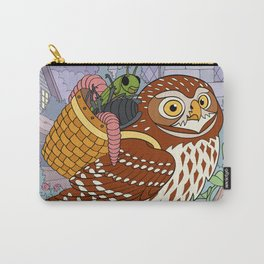 Little Owl with Packed Basket Carry-All Pouch