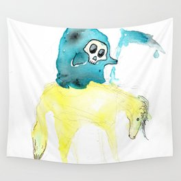 Lil Deathster the Ankle Scyther and Pasty the Pallid Pony Wall Tapestry