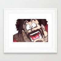 satan Framed Art Prints featuring Mr. Satan by DeMoose_Art