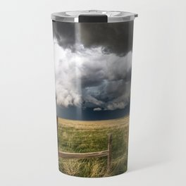 Aquamarine - Storm Over Colorado Plains Travel Mug