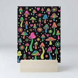Rainbow Mushrooms Mini Art Print
