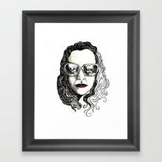 cretina safada da boca vermelha Framed Art Print