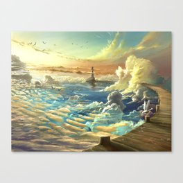 on shore of the sky Canvas Print