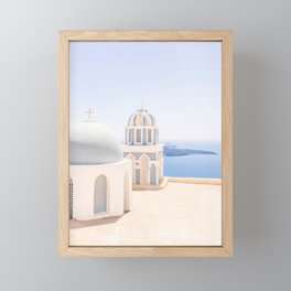 485. Another view from Fira, Santorini, Greece Framed Mini Art Print