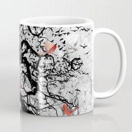 Red Birds in Snow by GEN Z Coffee Mug