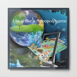 Life is like a Board Game Metal Print