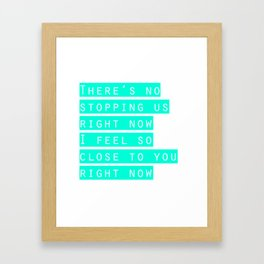 feel so close Framed Art Print