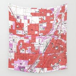 Vintage Map of Las Vegas Nevada (1967) Wall Tapestry