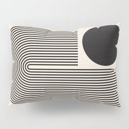 Abstraction_BLACK_LINE_DOT_POP_ART_Minimalism_004D Pillow Sham