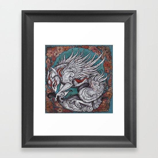 the sun Goddess Framed Art Print